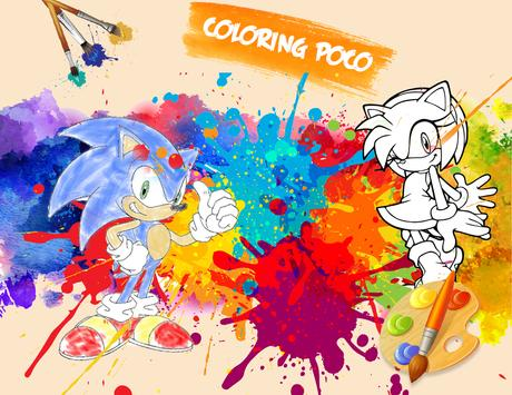 🎨 Coloring Sonic Game Page screenshot 4