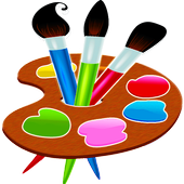 Painting and drawing for kids icon