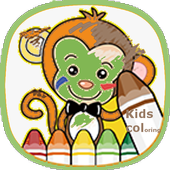 Kids Coloring book oggy icon
