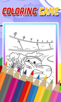 Coloring McQueen Car Game apk screenshot
