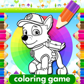 Coloring Paw Patrol Game icon