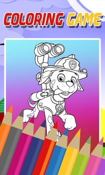 Coloring Paw Patrol Game poster