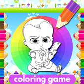 Coloring Baby Boss Game icon