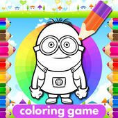 Coloring Yellow Minion Game icon