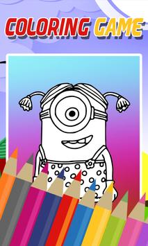 Coloring Yellow Minion Game screenshot 2