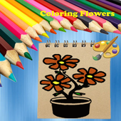 Adventure Coloring Flowers icon