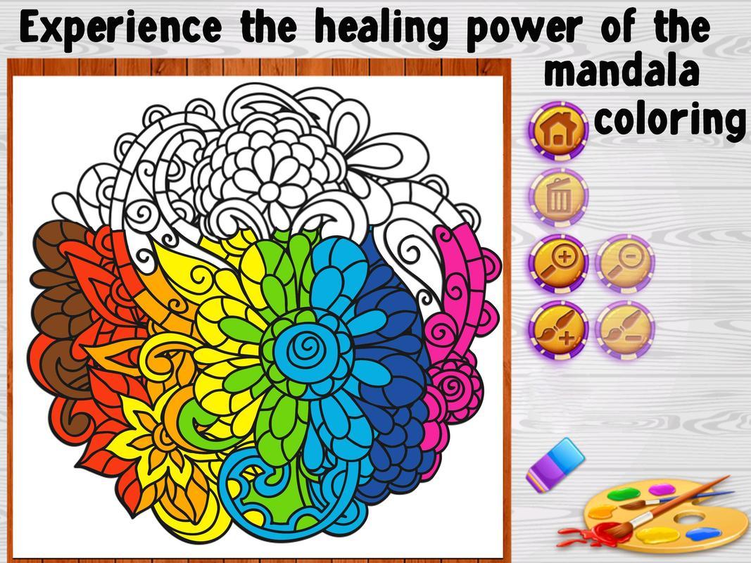 Mandala Coloring Book To Relax Apk Screenshot