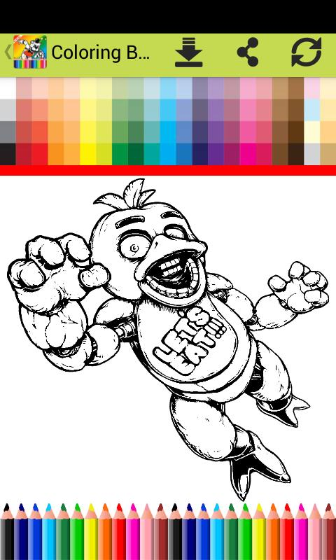 Libro Colorear Fnaf World Fans For Android Apk Download