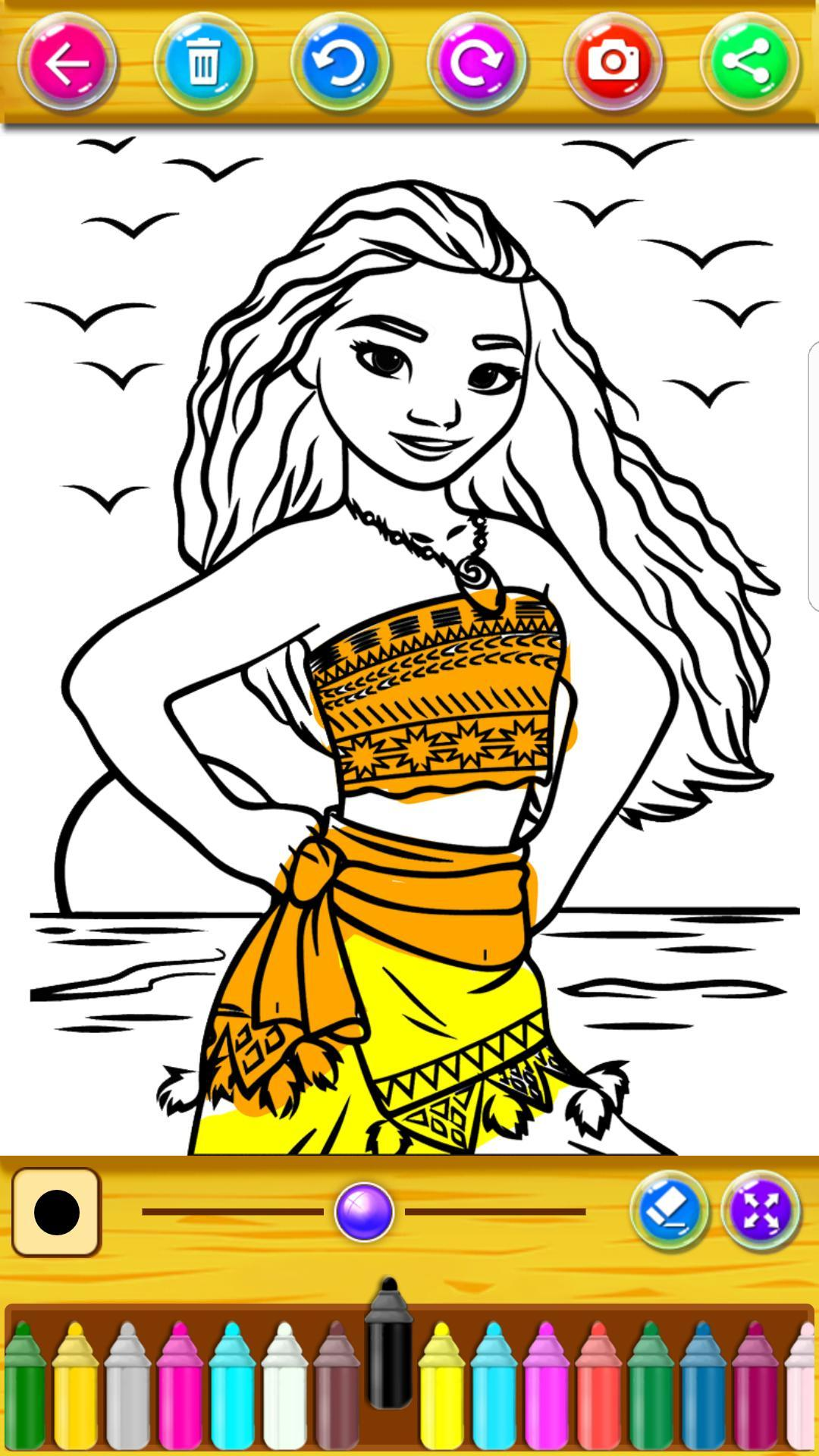 Princesa Vaian Moana Para Colorear Libro For Android Apk Download