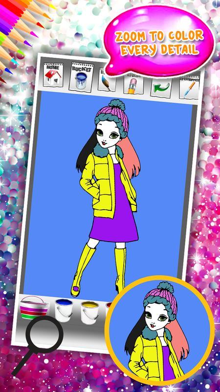 libro de colorear de moda de chicas for Android - APK Download