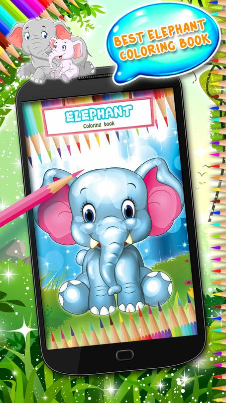 libro para colorear elefante for Android - APK Download