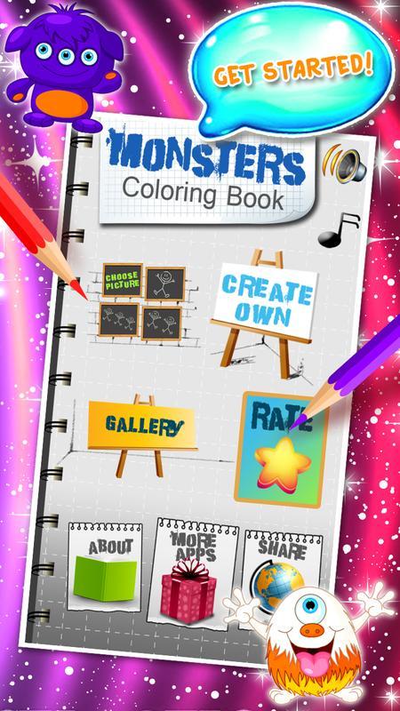 Dibujos de monstruos para colorear for Android - APK Download