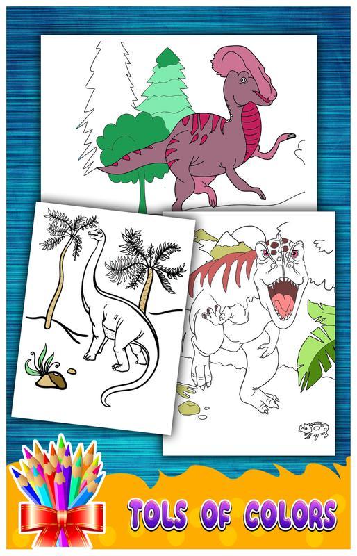Dinosaurs Coloring Drawing Book New Screenshot 12