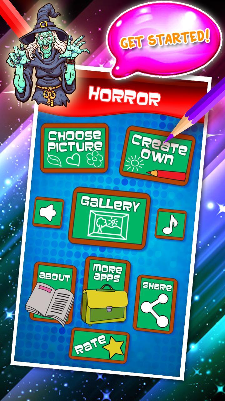 Libro Da Colorare Horror For Android Apk Download