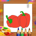 Vegetables Coloring Book & Drawing Book- Kids Game