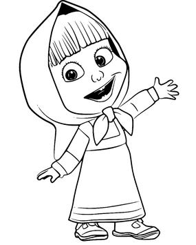 How To Color Masha And The Bear Coloring Book Screenshot 3