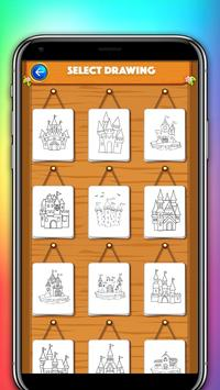 castle coloring and drawing book poster