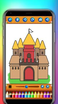 castle coloring and drawing book screenshot 2
