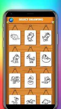 dinosaur coloring and drawing book poster