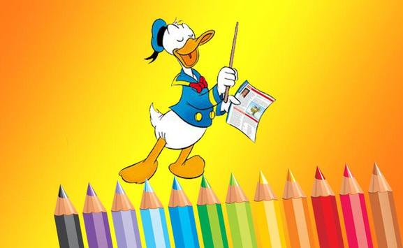 Game Donald Duck Coloring Book Poster
