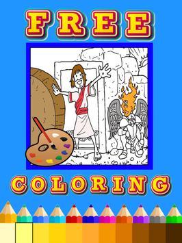 Coloring book jesus bible poster