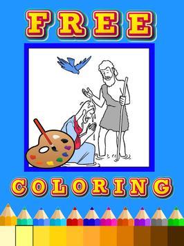 Coloring book jesus bible screenshot 1