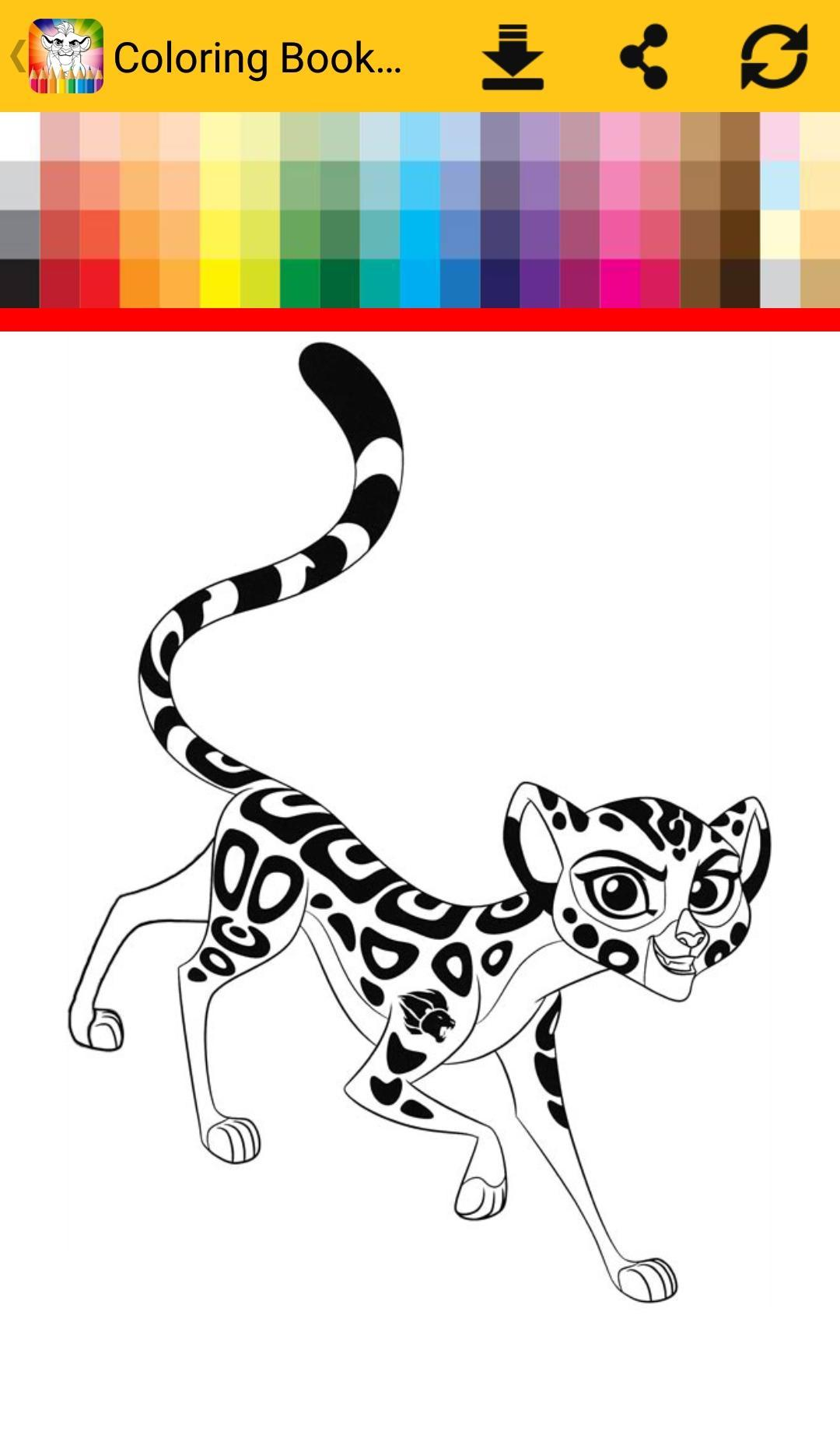 Coloring Book The Lion For Android Apk Download
