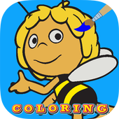Coloring book maya the bee icon