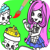 Coloring Book Shopkins Girls icon