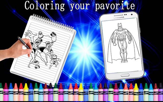 COLORING GAMES BOOKS FOR SUPER HEROO Poster