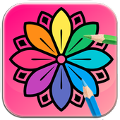 Coloring games for adults icon