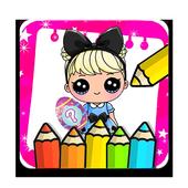 coloring dolls princess surprise for fan icon