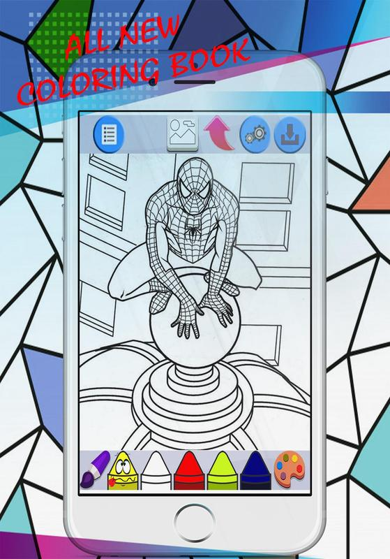 Superhero for coloring book pages kids apk download Coloring book 2018 apk