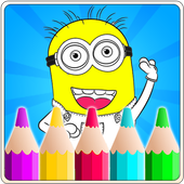Coloring Book For despicable icon