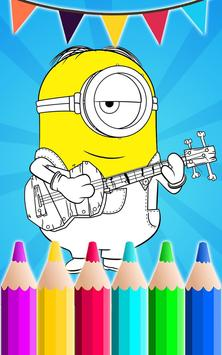 Coloring Book For despicable poster