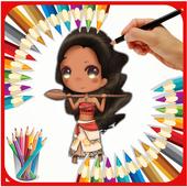 coloring book Maui Moana island ed n eddy coloring icon