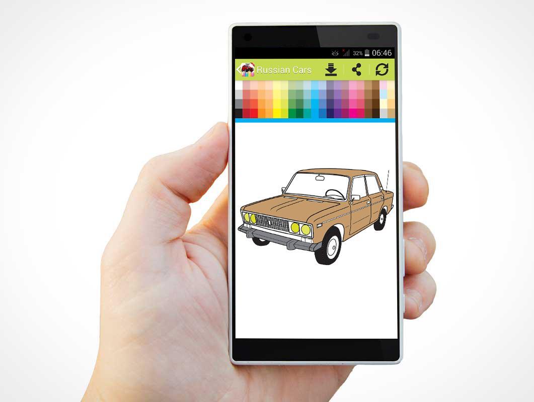 Libro para colorear de coches para ruso Descarga APK - Gratis Casual ...