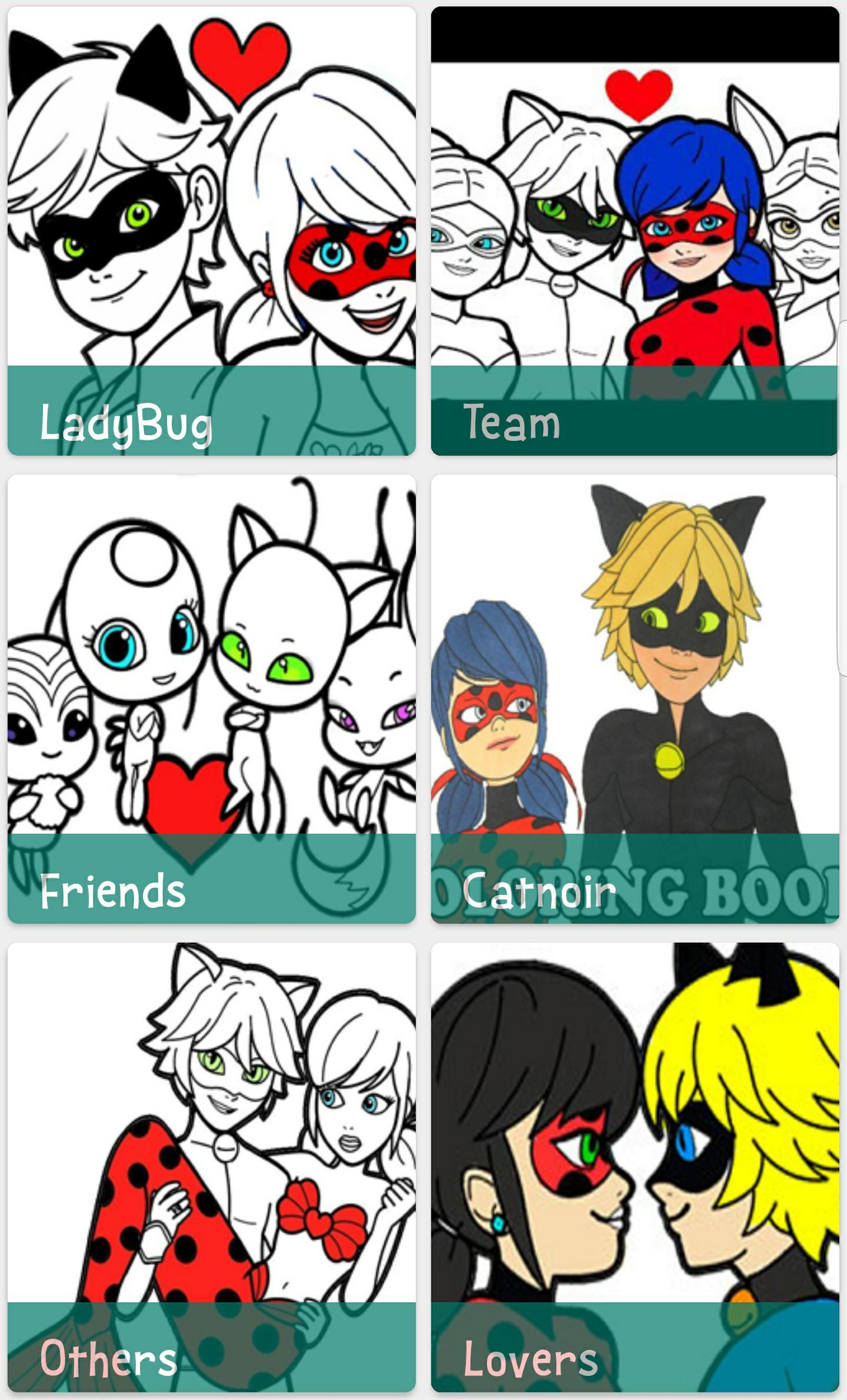 Libro De Colorear Miraculous Ladybug And Cat Noir For Android