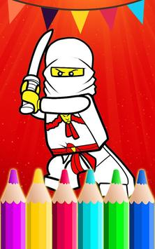 Coloring Book Game For ninjago poster