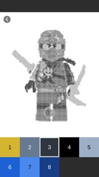 Color By Number Lego Ninjago Pixel Art 10 Android