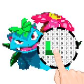 PokeArt - Pokemon Pixel Art Coloring by Number icon