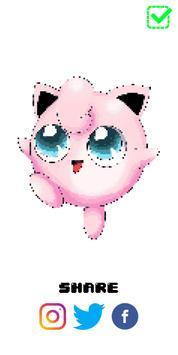 PokeArt - Pokemon Pixel Art Coloring by Number screenshot 3