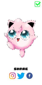 PokeArt - Pokemon Pixel Art Coloring by Number screenshot 7