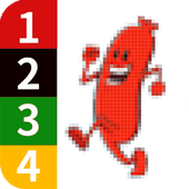 Color by Number - Sausage Pixel Art icon