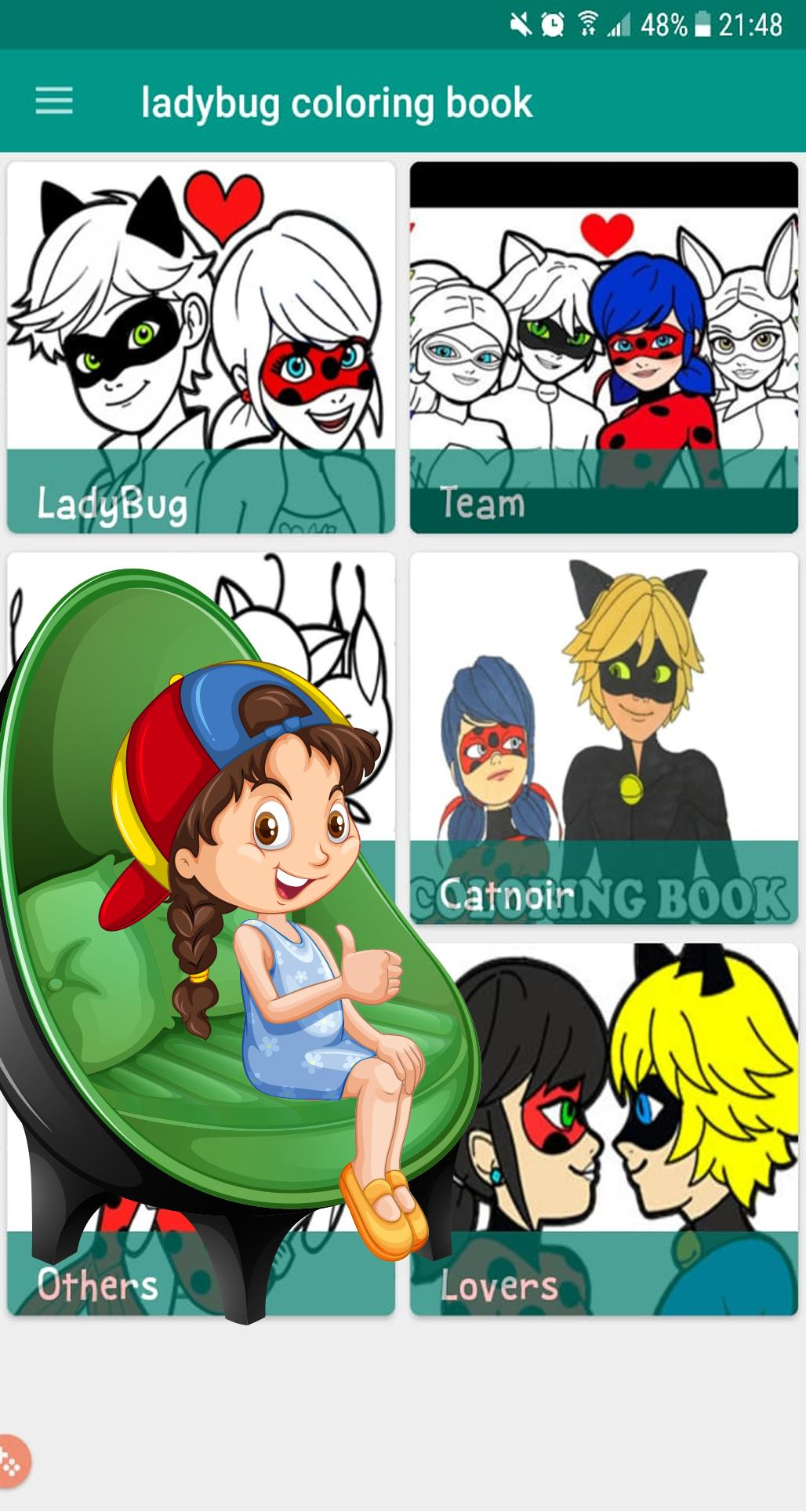 Coloriage Ladybug Chat Noir Dessins For Android Apk Download