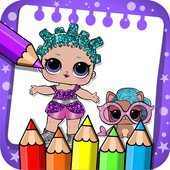 coloring Surprise Dolls of Lol princess icon