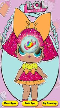 coloring Surprise Dolls of Lol princess poster