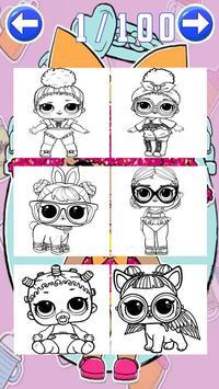coloring Surprise Dolls of Lol princess screenshot 4