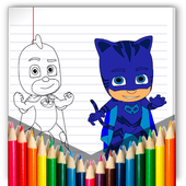 coloring pj for masks icon