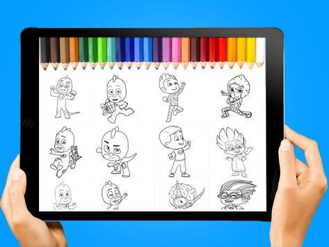 páginas para colorear Héroes en pijamas for Android - APK Download